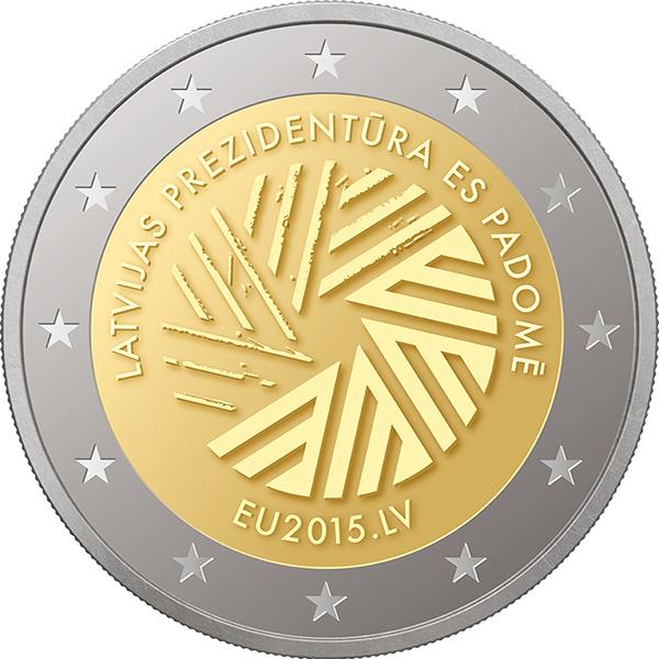 Монета, посвященная президентству Латвии в совете ЕС