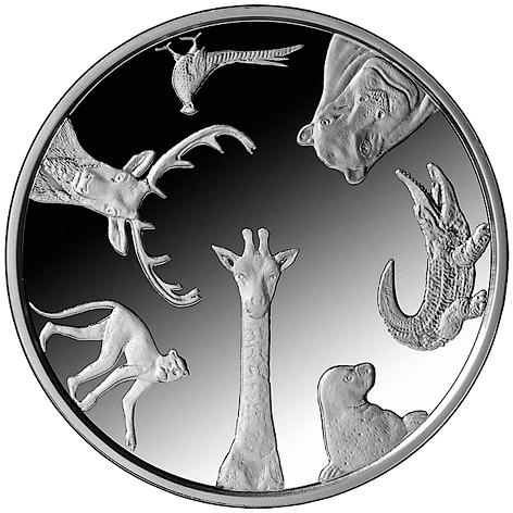 Монета «Рижский зоопарк»